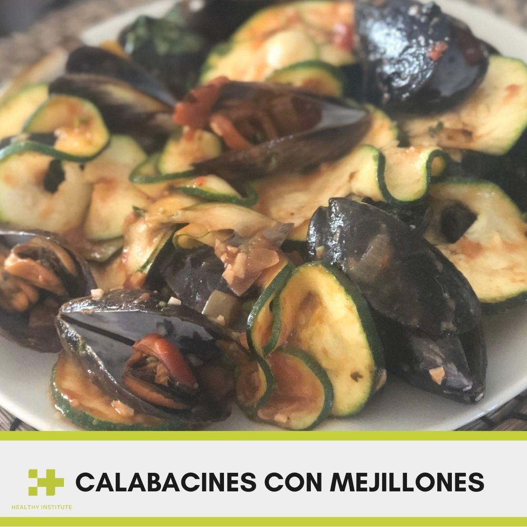 Calabacines con mejillones