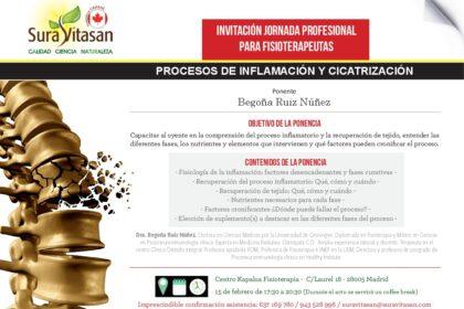 INVITACIÓN Inflamacion y cicatrizacion Madrid 15 febrero - Begoña Ruiz