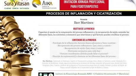 INVITACIÓN charla inflamación con Healthy Institute PNIc Castellano Barcelona 8 marzo - Iker