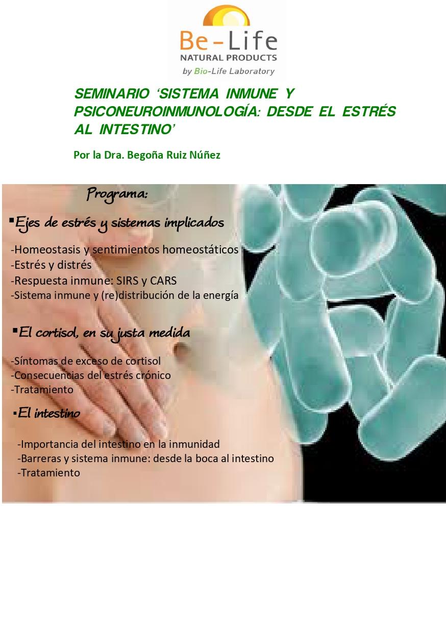 Programa seminario Psiconeuroinmunología