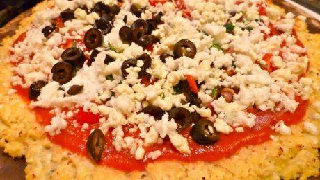 Receta pizza coliflor