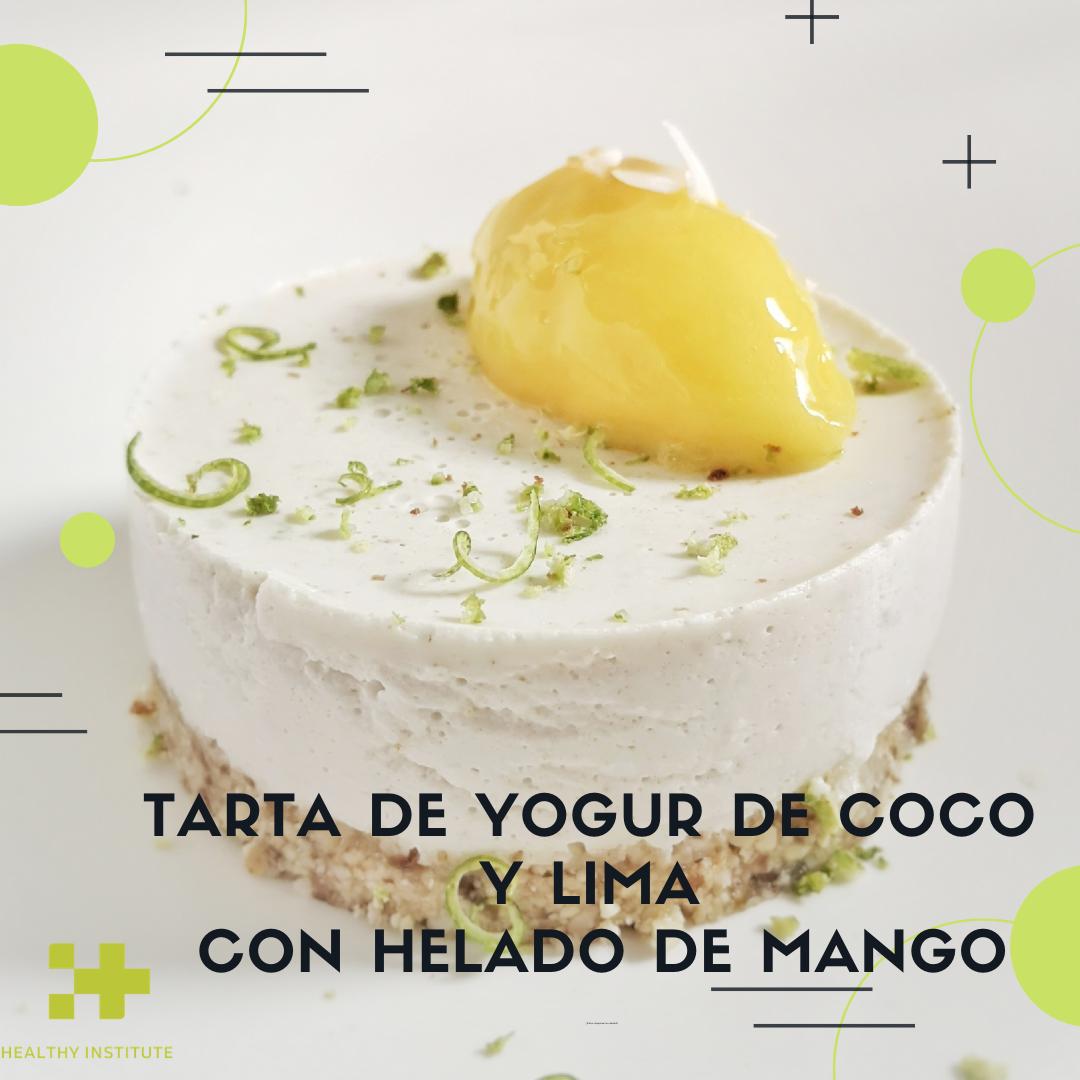 tarta de yogur de coco y lima