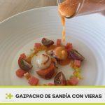 Receta gazpacho de sandía con vieras