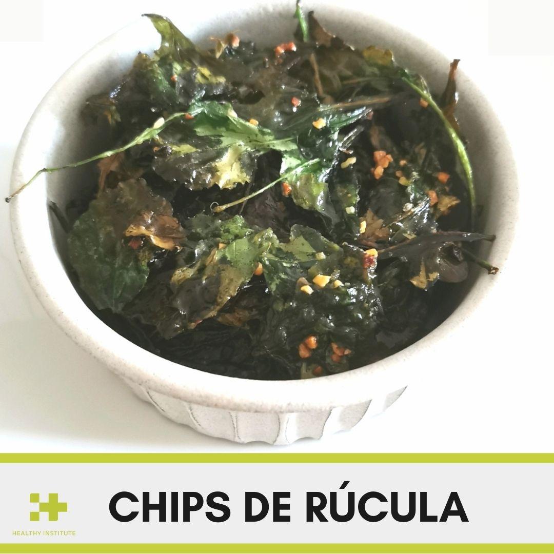 Chips de rúcula