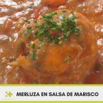 Receta saludable de merluza en salsa de marisco comida real