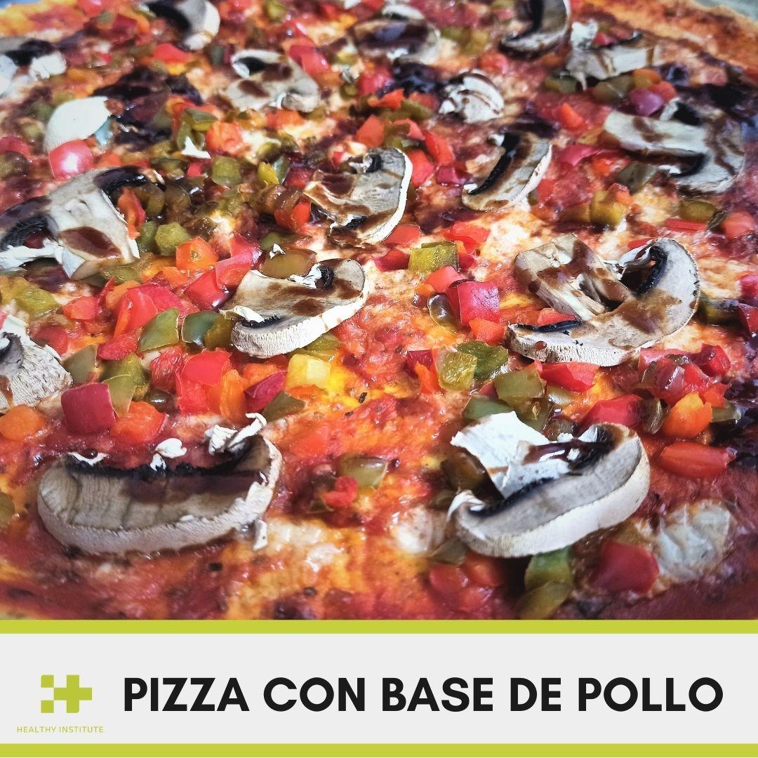 Receta pizza con base de pollo